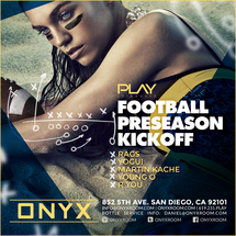Onyx Room: Football Season Kickoff PLAY Saturdays