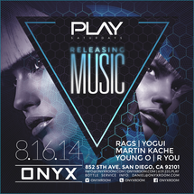 Onyx Room: Releasing Music PLAY Saturdays (Summer Time CD Release Party)