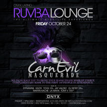 Rumba Lounge Friday presents CarnEVIL Masquerade
