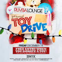 Rumba Lounge Friday presents Toy Drive