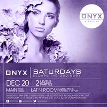 Onyx Saturdays: Escape the Ordinary