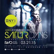 Onyx Saturday: Escape the Ordinary for a Aries Zodiac Sign Party