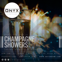 Onyx Saturday: Escape the Ordinary with Champagne Showers
