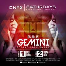 Onyx Saturday: Escape the Ordinary Gemini Zodiac Sign Party