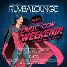 Rumba Lounge Fridays presents Comic Con Weekend