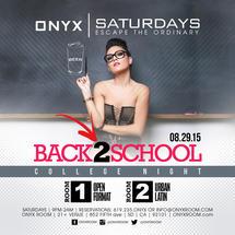 Onyx Saturday: Escape the Ordinary present Back 2 School
