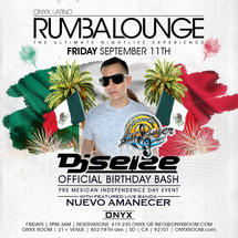 Rumba Lounge Fridays presents Pre Mexican Independence Day Event