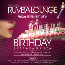 Rumba Lounge Fridays presents Birthday Extravaganza