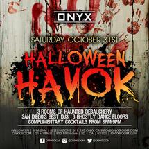 Onyx Saturdays presents Halloween Havok