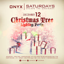 Onyx Saturday: Escape the Ordinary Christmas Tree Lighting Party