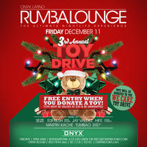 Rumba Lounge Fridays presents Annual Toy Drive